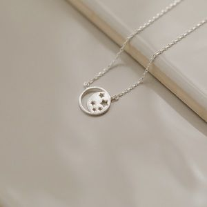 Celestial Moon & Stars Necklace | 925 Silver